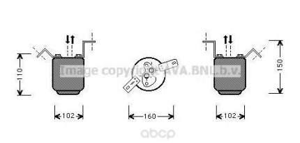 Радиатор кондиционера автомобильный Ava BWD224