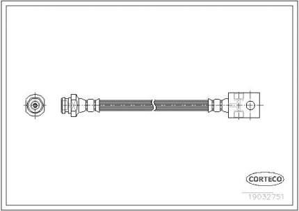 Шланг тормозной CORTECO 19032751