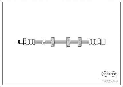 Шланг тормозной CORTECO 19025849