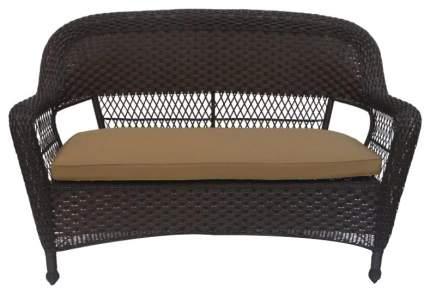 Двухместный диван Afina LV130-1 Brown/Beige из искусственного ротанга