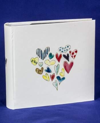 """Фотоальбом """"Сердца"""" на 200 фото в кармашках 10х15 см, подарочный кейс"""