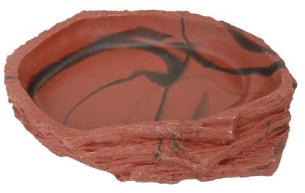 Кормушка-поилка для рептилий LUCKY REPTILE Dish Lava, коричневая, 11 х 8 х 2,5 см