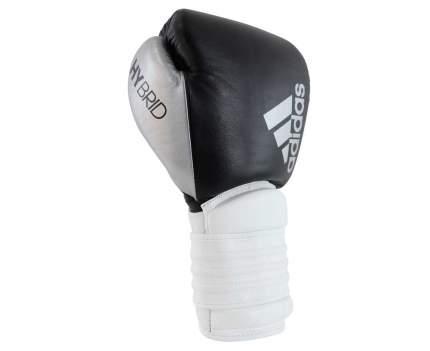Боксерские перчатки Adidas Hybrid 300 черные/белые/серебристые 12 унций
