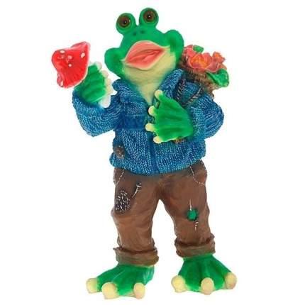 NONAME Фигура декоративная садовая Лягушка в свитере L37W24H58 cм