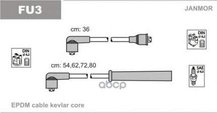Комплект проводов зажигания JANMOR FU3