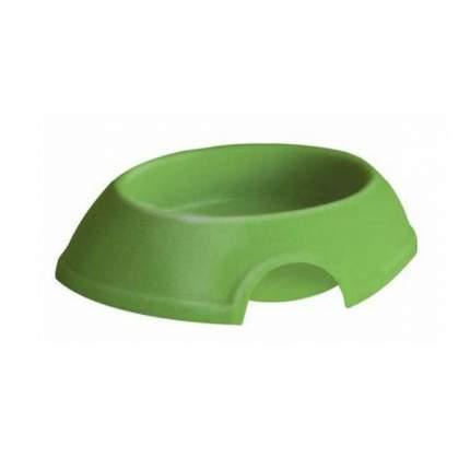 Одинарная миска для кошек и собак ZooExpress, пластик, зеленый, 0.2 л