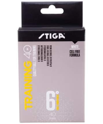 Мячи для настольного тенниса Stiga Training ABS белые, 6 шт.