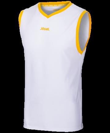 Майка Jogel JBT-1020-014, белый/желтый, M INT