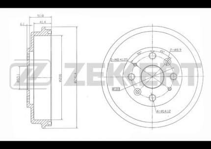 Тормозной барабан ZEKKERT BS-5517