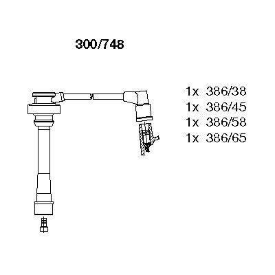 Комплект проводов зажигания BREMI 300/748