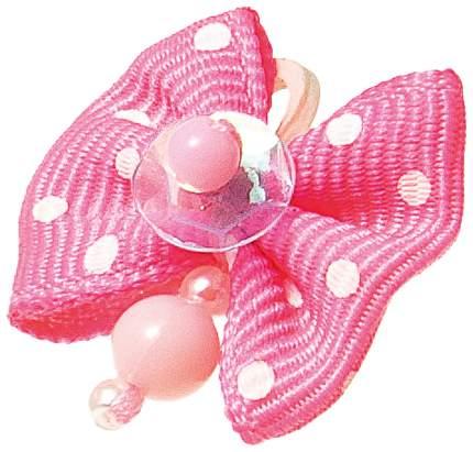 Заколка для домашнего питомца Pet Line Бантик розовый с белым горошком