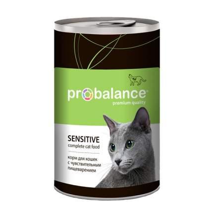 Влажный корм для кошек ProBalance Sensitive,12 шт. по 415 г