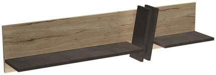 Настенная полка СБК Стреза, дуб галифакс натуральный/бетон чикаго темно серый