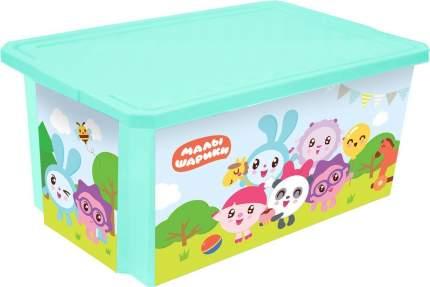 Ящик для хранения игрушек Little Angel LA1127 Малышарики, 57л, 61х40х33см