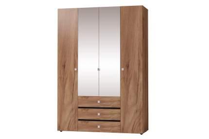 Платяной шкаф Hoff Neo 80321737 160х230х57,9, дуб табачный/чёрный