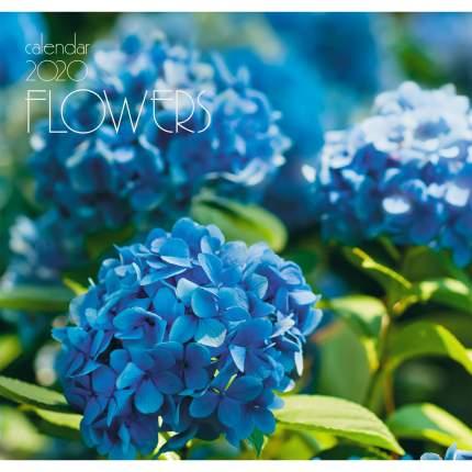 Календарь 2020 Цветы. Голубая гортензия (скрепка), КС62012