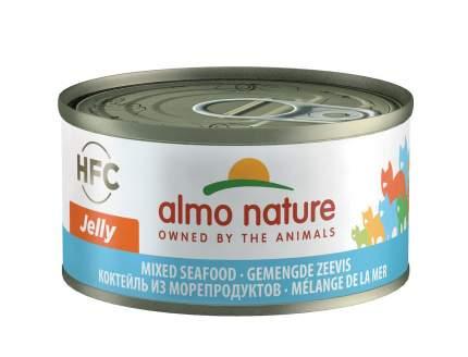 Консервы для кошек Almo Nature HFC Jelly Mixed Seafood, морепродукты, 70г