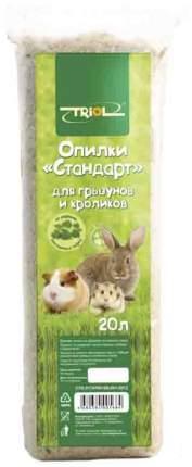 Опилки для грызунов Triol Стандарт, из лиственных пород, 20 л