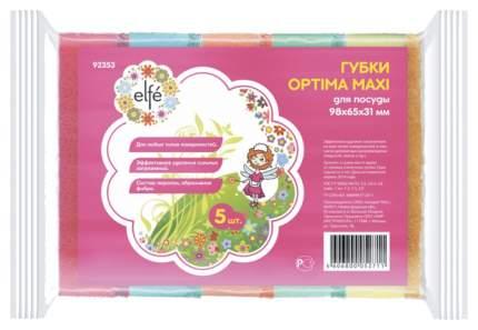 Губки для посуды Elfe optima maxi 98 * 65 * 31 мм 5 шт
