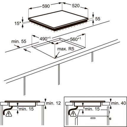 Встраиваемая варочная панель индукционная Electrolux IPE644RBC Black