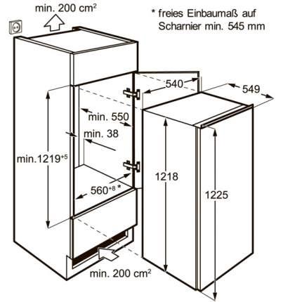 Встраиваемый холодильник Electrolux ERN92201AW White