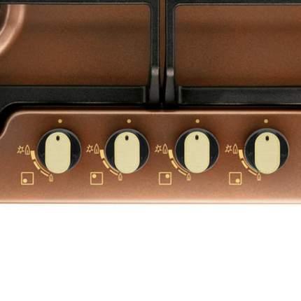 Встраиваемая варочная панель газовая Zanussi ZGG566414P Brown