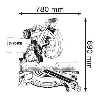 Сетевая торцовочная пила Bosch GCM 12 GDL 0601B23600
