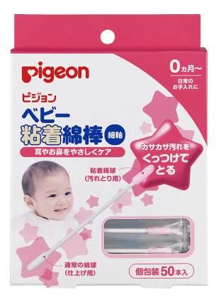 Палочки ватные с липкой поверхностью pigeon, 50 шт