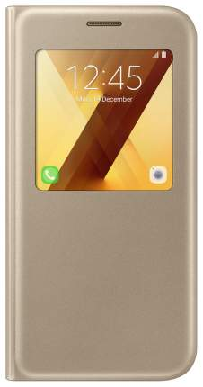 Чехол Samsung S View Standing Cover для Galaxy A5 (2017) Gold