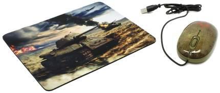 Проводная мышка CBR Tank Battle Green