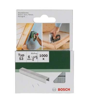 Скобы Bosch 1000шт Т53 6x11,4мм (2609255819)