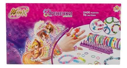 Набор для создания украшений 1TOY Winx Фенечки 10 цветов, 2400 резинок