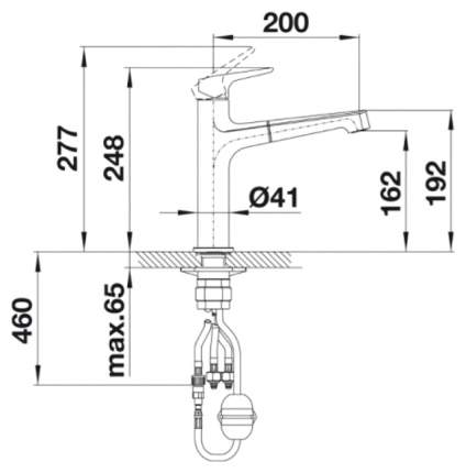 Смеситель для кухонной мойки Blanco FELISA-S 521725 мускат