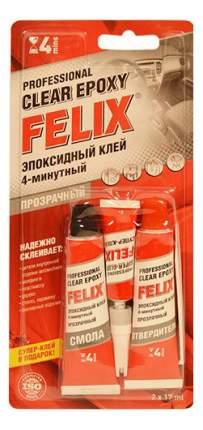 Эпоксидный клей Felix, прозрачный, 2х17 мл