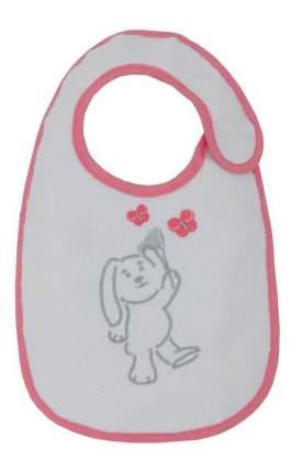 Нагрудник детский Polini Набор слюнявчиков Зайки розовый с вышивкой