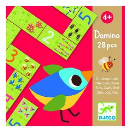 Семейная настольная игра Djeco Домино Раз, два, три