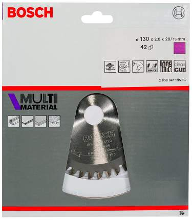 Диск по дереву Bosch STD MM 130x20-42T 2608641195