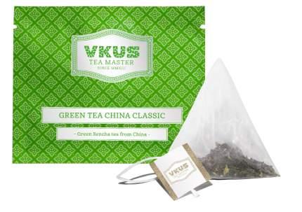 Чай зеленый Vkus сенча классический в пирамидках на чашку 50 пакетиков