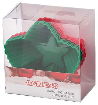 Набор форм Agness 710-321 Красный, зеленый