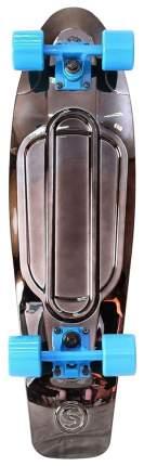 "Скейтборд Y-Scoo Big Fishskateboard Metallic 27"" 402H-Bb с сумкой Black Bronzat Blue"