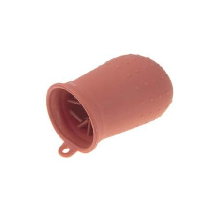 Лапомойка для собак силиконовая, малая, красная