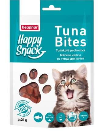 Лакомство для котят Beaphar Happy Snack, мягкие чипсы из тунца, 40г
