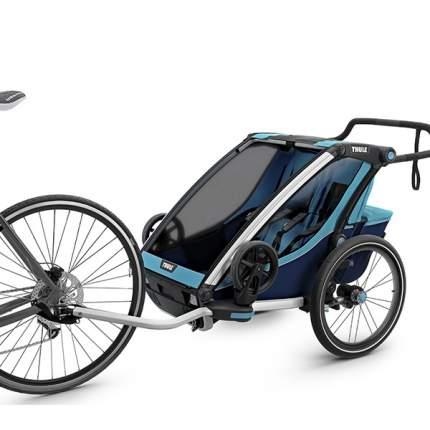 Мультиспортивная коляска Thule Chariot Cross для 2 детей, Blue/Poseidon