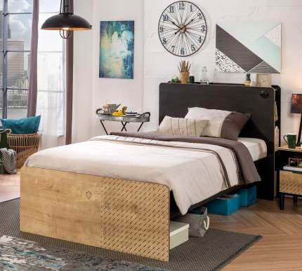 Кровать Cilek Black 120х200 см, бежевый/черный
