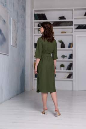 Платье женское BARMARISKA 4680025218145 хаки L