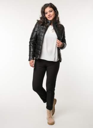 Кожаная куртка женская Каляев 80108К черная 44 RU