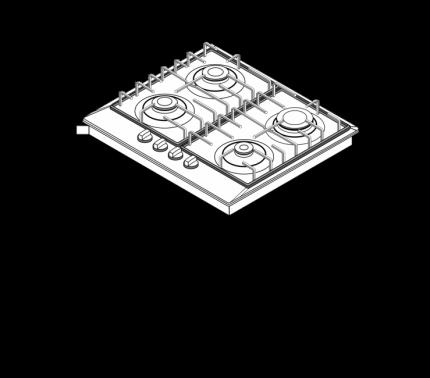 Встраиваемая газовая панель Schaub Lorenz  SLK GW6223