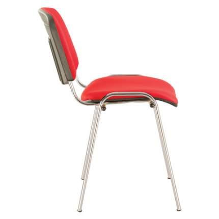 Офисный стул Brabix CF, хром/красный