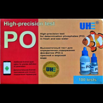 Тест на определение содержания фосфатов в аквариумной воде UHE PO test