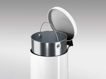 Мусорный контейнер Hailo ProfiLine Solid M с оцинк.ведром 12л., Белый, арт. 0514-099